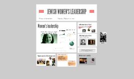 JEWISH WOMEN'S LEADERSHIP