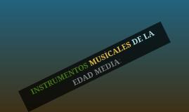 Copy of INSTRUMENTOS MUSICALES DE LA EDAD MEDIA: