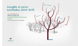 Acogida al curso académico 2014-2015