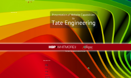 Website presentation to Tate Engineering