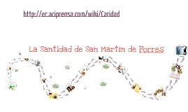Santidad en Martín de Porres