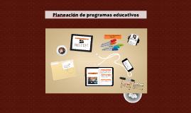 Planeación de programas educativos