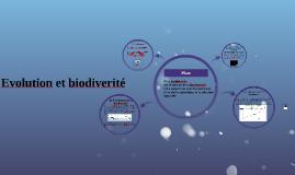 Evolution et biodiverité