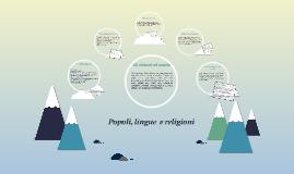 Popoli, lingue  e religioni