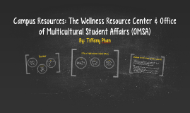 Campus Resources: The Well & Office of Multicultural Student