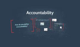 Accountability & Taking Responsbility