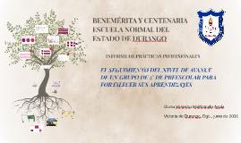BENEMÉRITA Y CENTENARIA ESCUELA NORMAL DEL ESTADO DE DURANGO