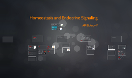 Homeostasis and Endocrine Signaling AP F