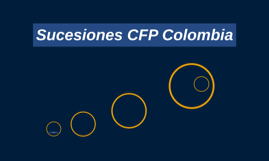 Sucesiones CFP Colombia