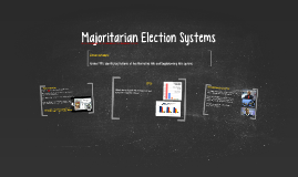 Majoritarian Election Systems