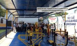 Copy of IMPACTO DEL PARQUE BIOSALUDABLE EN EL COLEGIO DIOCESANO SAN