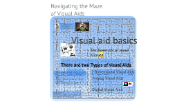 Navigating the Maze of visual aids