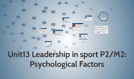 Copy of Copy of Unit13 Leadership in sport P2/M2: