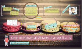Copy of Common Nonverbal Mistakes of an Applicants