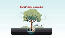 Animal Testing in Cosmetics