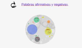 Palabras afirmativas y negativas.