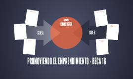 PROMOVIENDO EL EMPRENDIMIENTO - BECA 18