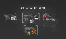 Art Electives for Fall 2016