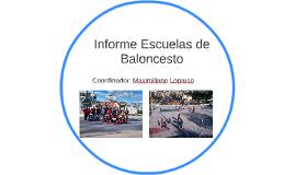 Informe Escuelas de Baloncesto