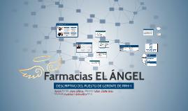 Descriptivo de cargo de gerente de RRHH - Farmacias EL ÁNGEL
