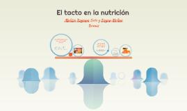 El tacto en la nutrición