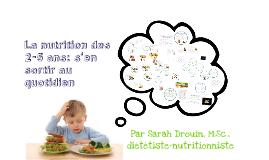 La nutrition des 2-5 ans