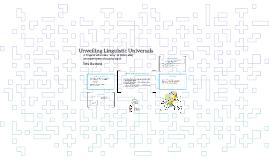 Unveiling Linguistic Universals