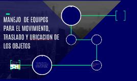 EQUIPOS DE MANIPULACION DE CARGA
