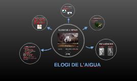 ELOGI DE L'AIGUA