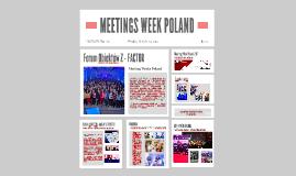 MEETING WEEK POLAND