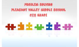 Problem Solving Unit - 5th Grade
