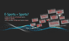 E-Sports = Sports?
