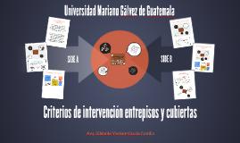 Criterios de intervención Entrepisos y cubiertas