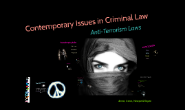 Contemporary Issues in Criminal Law