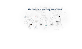 The Pure Food and Drug Act of 1906
