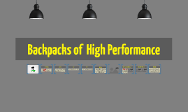 Copy of Backpacks of  High Performance
