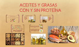 Aceites y Grasas con y sin Proteína