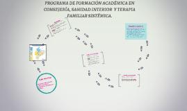 PROGRAMA DE FORMACIÓN ACADEMICA EN CONSEJERÍA Y TERAPIA FAMI