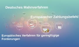 Deutsches Mahnverfahren