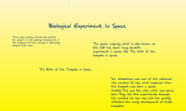biological expirements in space