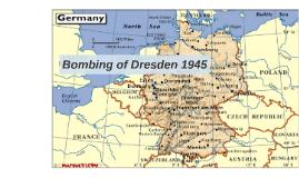 Bombing in Dresden 1945