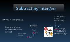 Subtracting Intergers