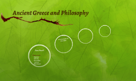 Ancient Greece and Philosophy