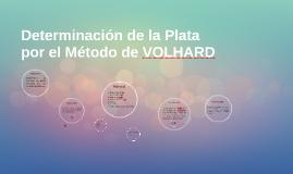 Determinación de la Plata por el Método de VOLHARD