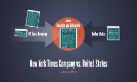 New York Times Company vs. United States