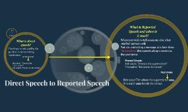 Direct Speech to Reported Speech