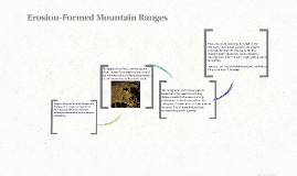 Erosion-Formed Mountain Ranges