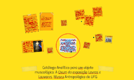 Copy of Catálogo Analítico para um objeto museológico: A Oxum da exp