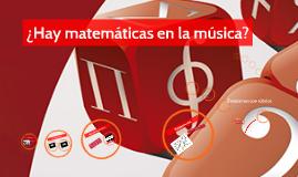 Copy of ¿Hay matemáticas en la música? Actividades