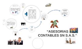 """ASESORIAS CONTABLES SN S.A.S."","